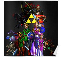 Ocarina Of Time All Bosses Poster