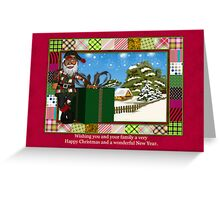 African American Santa Greeting Card Greeting Card