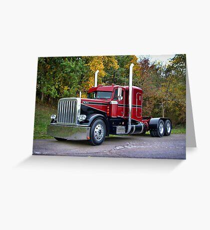 """""""Miss Behavin"""" 1990 Peterbilt Semi Truck Greeting Card"""