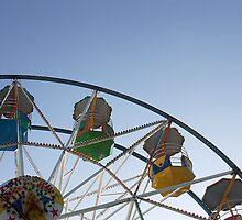 Ferris wheel at Scarborough sea front funfair by Richard Flint