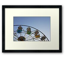 Ferris wheel at Scarborough sea front funfair Framed Print