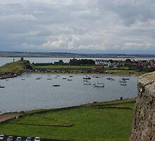 Lindisfarne, the Holy Island, village view from castle by BronReid