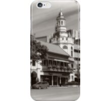 Figlio's on the Country Club Plaza, Kansas City, Tilt-Shift, Sepia iPhone Case/Skin