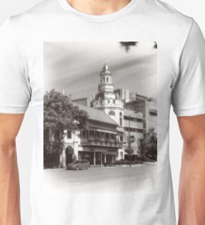 Figlio's on the Country Club Plaza, Kansas City, Tilt-Shift, Sepia Unisex T-Shirt