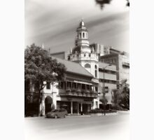 Figlio's on the Country Club Plaza, Kansas City, Tilt-Shift, Sepia Unisex T-Shirt