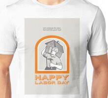 Labor Day Greeting Card Builder Construction  Hammer House Unisex T-Shirt