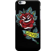 Love rose tattoo iPhone Case/Skin