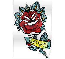 Love rose tattoo Poster