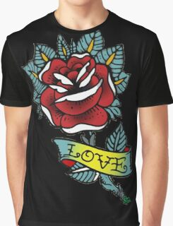 Love rose tattoo Graphic T-Shirt