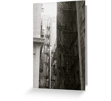 Urban Staircase Greeting Card
