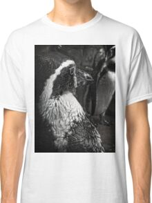 Humboldt Penguin, Black and White Classic T-Shirt