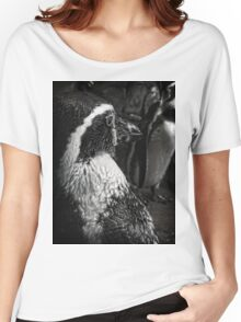Humboldt Penguin, Black and White Women's Relaxed Fit T-Shirt