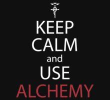 fullmetal alchemist keep calm and use alchemy anime manga shirt by ToDum2Lov3