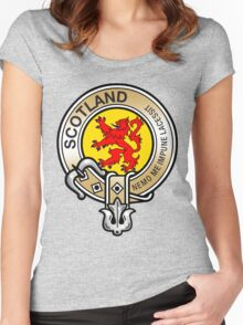 Scotland Lion Rampant Crest Women's Fitted Scoop T-Shirt