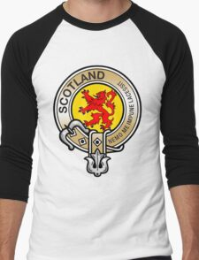 Scotland Lion Rampant Crest Men's Baseball ¾ T-Shirt