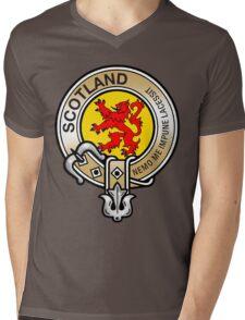 Scotland Lion Rampant Crest Mens V-Neck T-Shirt