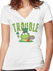 Irish Trouble Women's Fitted V-Neck T-Shirt
