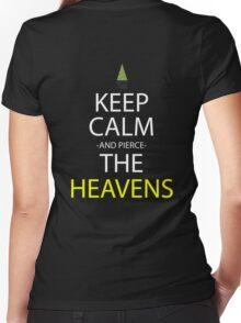 gurren lagann keep calm and pierce the heavens anime manga shirt Women's Fitted V-Neck T-Shirt