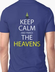 gurren lagann keep calm and pierce the heavens anime manga shirt T-Shirt