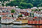 Buildings on Stilts, Bergen, Norway by Gerda Grice