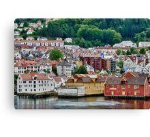 Buildings on Stilts, Bergen, Norway Canvas Print