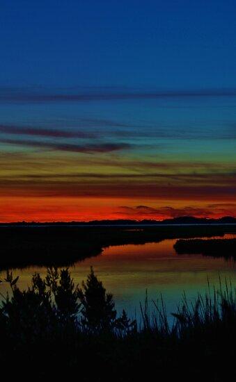 Deep Marshland Sunset by BeachBumPics