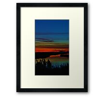 Deep Marshland Sunset Framed Print