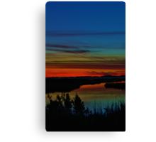 Deep Marshland Sunset Canvas Print