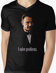 Mr. Wolf. Problem Solver. Mens V-Neck T-Shirt