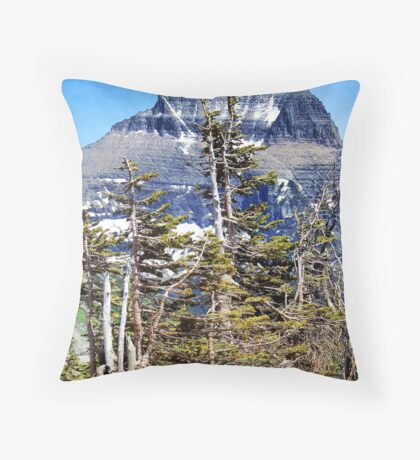 Windblown (Glacier National Park) Throw Pillow