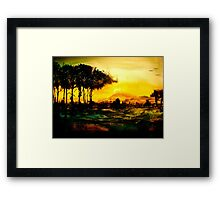 Shadowed Scenes... Framed Print