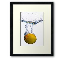 Lemon Splash #2 Framed Print