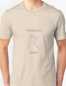 Rihanna Navy 'R' Design White Case T-Shirt