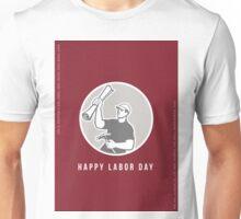 Labor Day Greeting Card Builder Plan Hammer Circle Unisex T-Shirt