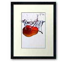 Pear Splash Framed Print