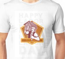 Labor Day Greeting Card Builder Hammer House Shield Unisex T-Shirt