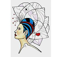Loving hair doodle Photographic Print