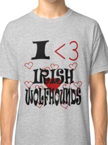 I <3 Irish Wolfhounds Classic T-Shirt