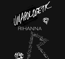 "Rihanna Navy ""Unapologetic"" Black Design by TalkThatTalk"