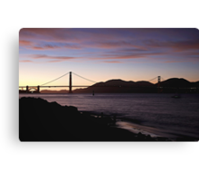 San Francisco -  Sunset Canvas Print