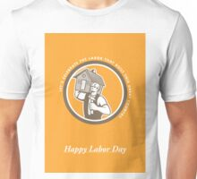 Labor Day Greeting Card Builder Hammer House Circle Unisex T-Shirt