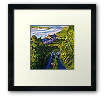 """Road Scene, near Rossport, County Mayo."" Framed Print"
