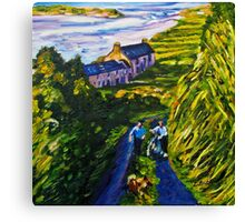 """Road Scene, near Rossport, County Mayo."" Canvas Print"