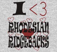 I <3 Rhodesian Ridgebacks One Piece - Short Sleeve