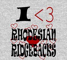 I <3 Rhodesian Ridgebacks T-Shirt