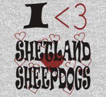 I <3 Shetland Sheepdogs Kids Clothes