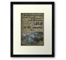 Fire and Ice and Rage Framed Print