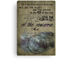 Fire and Ice and Rage Canvas Print