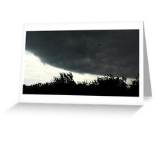 Small Tornado Passing By Greeting Card