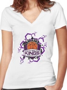 South Geelong Kings Basketball Women's Fitted V-Neck T-Shirt